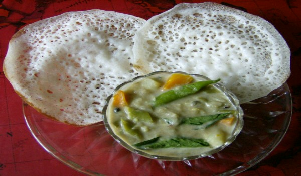 Appam And Veg Stew