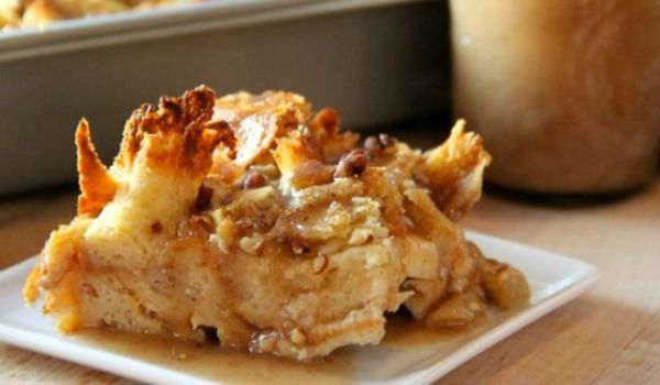 Apple Bread Butter Pudding Recipe
