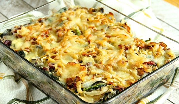 Baked Rice with Wild Mushrooms and Cheese