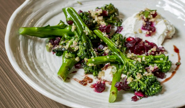 Barbecued Tenderstem Broccoli With Melting Goat�s Cheese