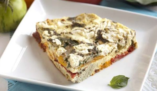 Basil Tomato Cream Cheese Frittata
