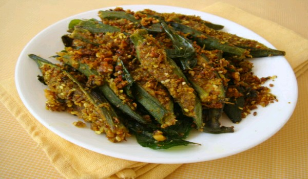 bhindi stuffed