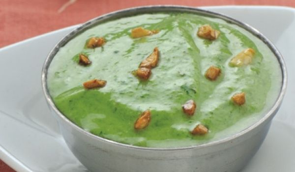 Burnt Garlic And Mint Chutney