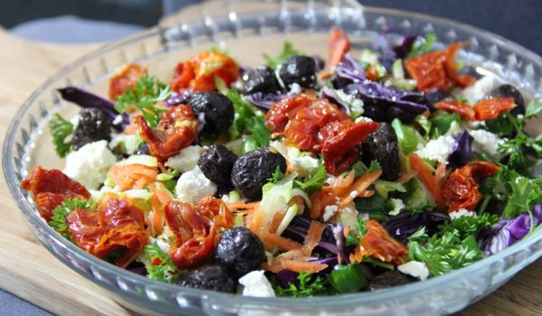 Cabbage Carrot and Tomato Salad