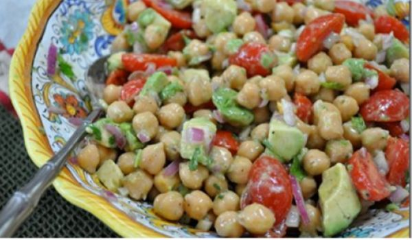 Chickpea and Garden Pea Salad Recipe