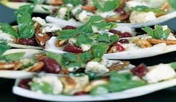 Chicory, Blue Cheese, Pecan, And Cranberry Salad