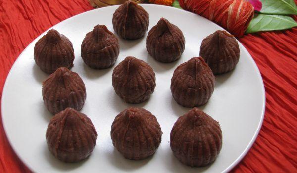 Choco Coconut Modak Recipe
