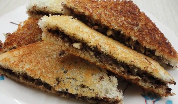 Dry Fruits Sandwich Recipe