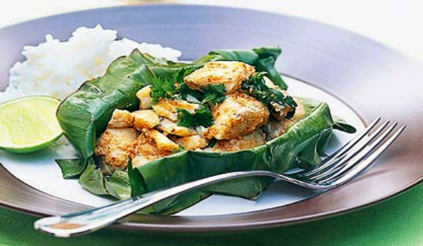 Fish in Banana Leaves