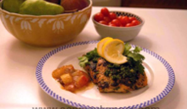 Fish With Pear Chutney