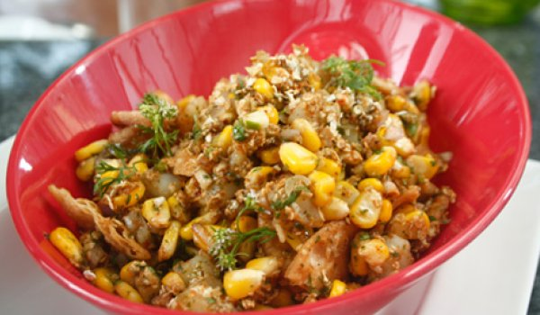Fresh Corn Bhel Recipe