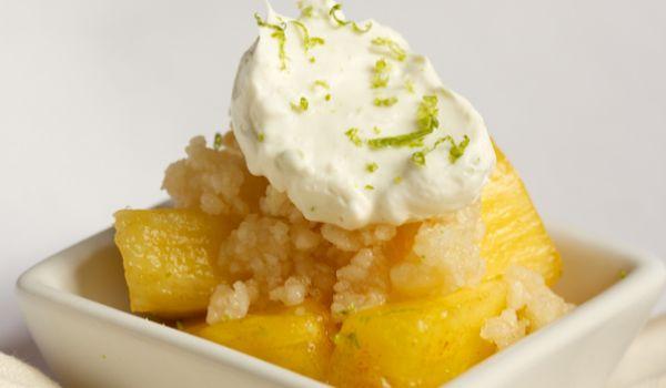 Fresh Pineapple Dessert