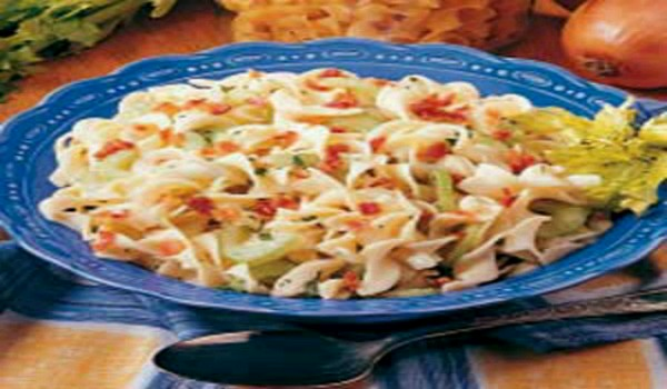 German Hot Noodle Salad