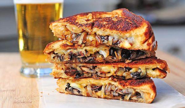 Grilled Mushroom Sandwich Recipe