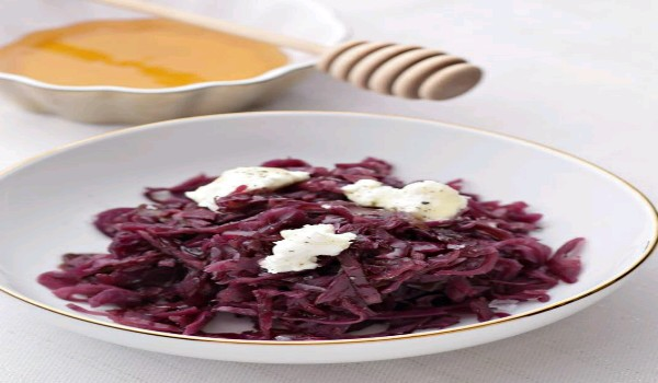 Honey Braised Red Cabbage