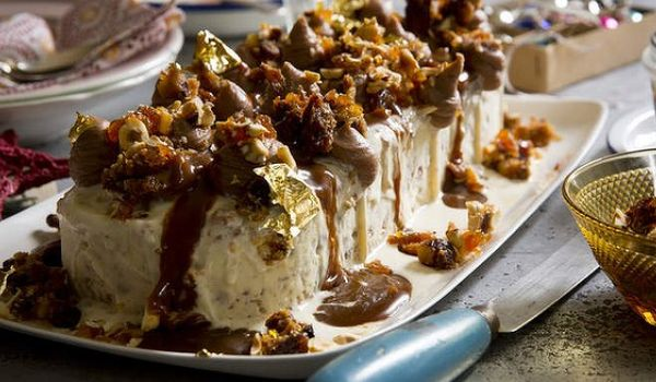 Iced Christmas Pudding