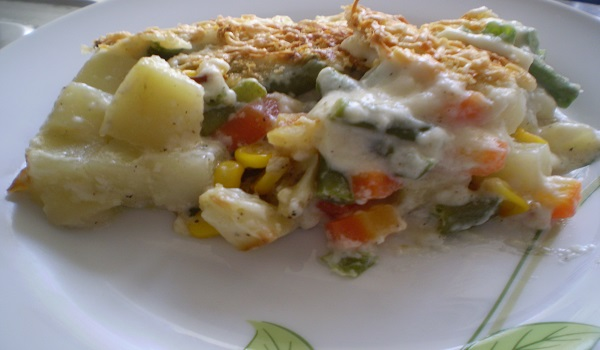 Low Calorie Vegetable Au Gratin