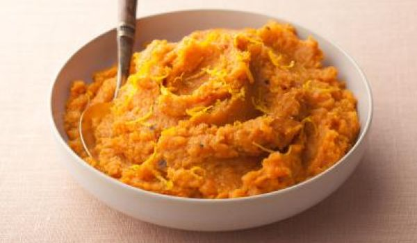 Mashed Jalapeno-Cilantro Sweet Potatoes