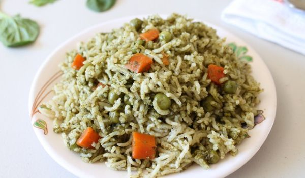 Methi and Palak Pulav Recipe