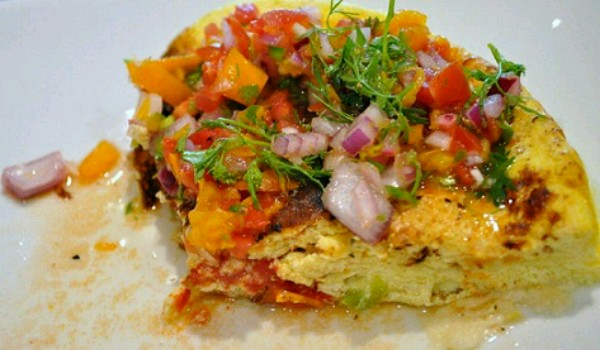 Omelet with Fresh Tomatoes Recipe