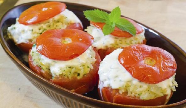 Paneer Stuffed Tomatoes