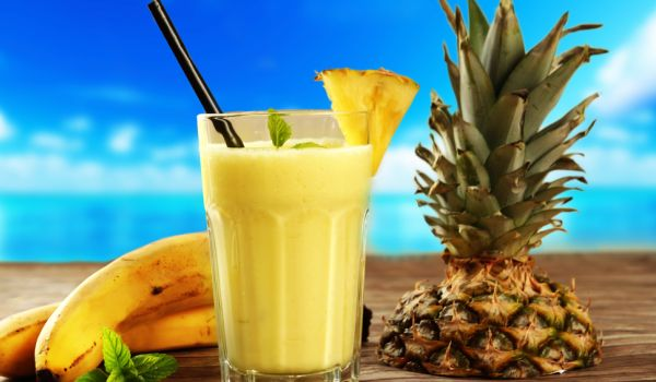 Papaya, Pineapple and Banana Shake