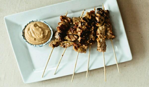 Peanut Pork Kebabs