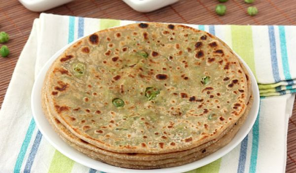 Peas Stuffed Paratha Recipe