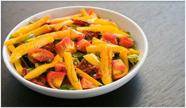 Pepper Tomato Salad Recipe