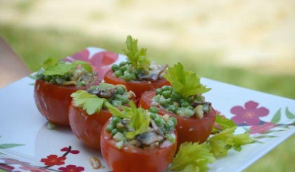 Petite Pea Tomato Salad