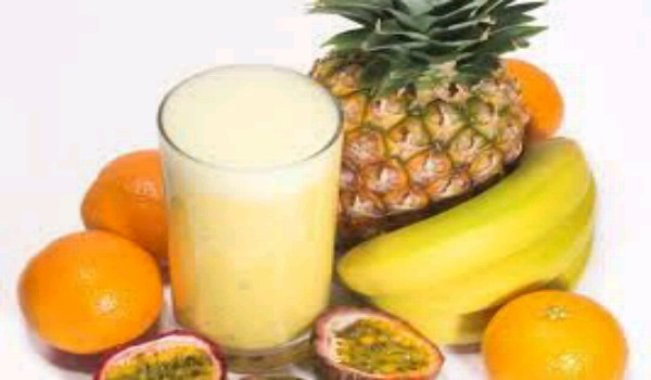 Pineapple, Strawberry and Apricot Shake
