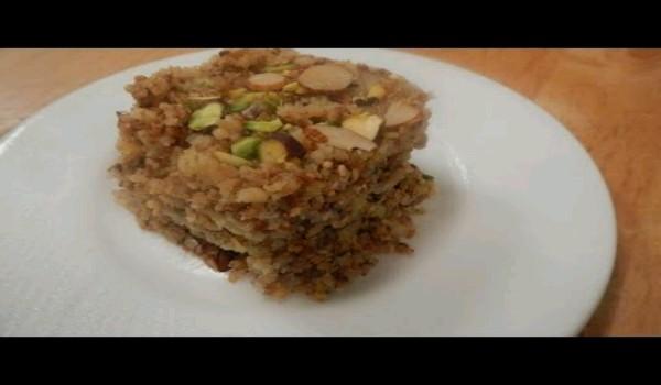 Pistewali Barfi Recipe