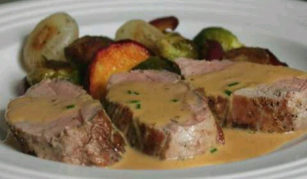 Pork Tenderloin With Dijon Marsala Sauce Recipe - How To Make Pork ...