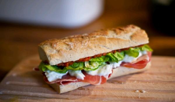 Prosciutto and Mozzarella Sandwich