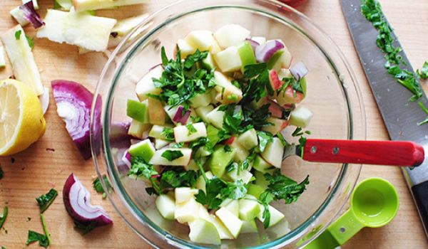 Red and Green Apple Salad Recipe