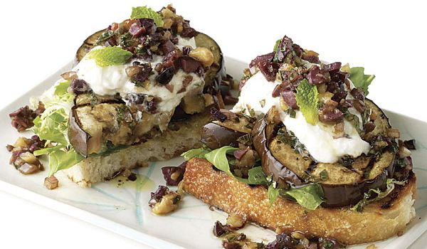 Roast Eggplant with Walnuts