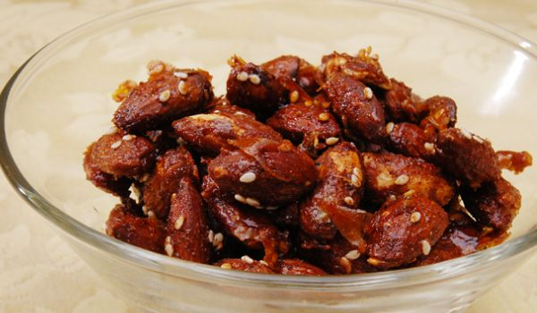 Roasted Honey And Spice Nuts
