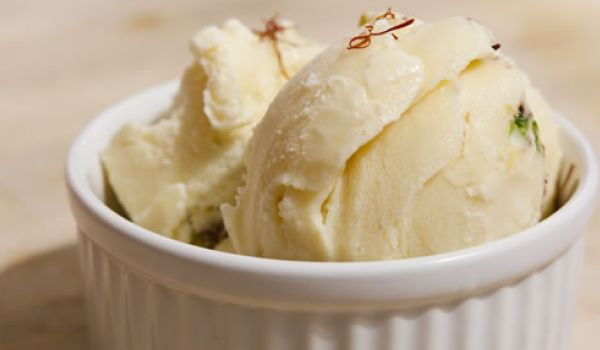 Saffron Cardamom Ice-Cream