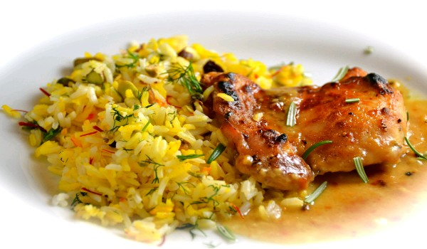 Saffron Rice and Chicken