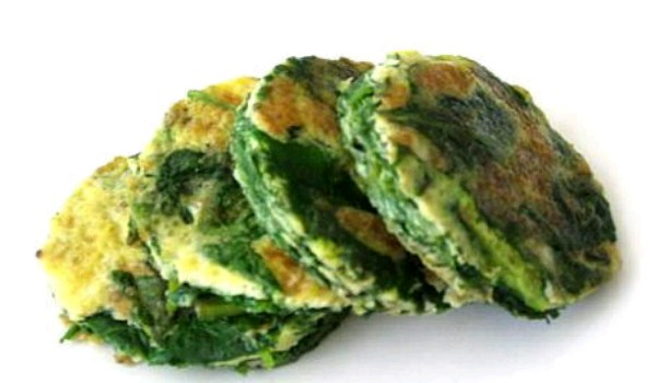 Spinach Egg Pancake