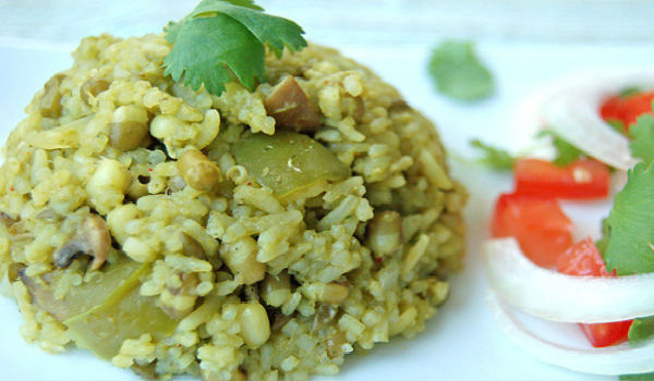 Sprouted Green Gram Pulav
