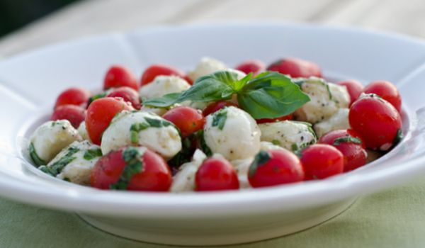 Tomato Mozzarella And Olive Salad
