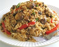 Mushroom Fried Rice Recipe