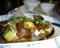 Steamed Pomfret In Sauce